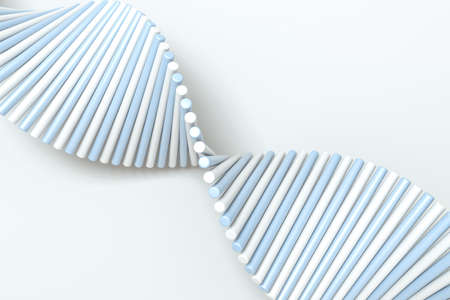 3d rendering, the spiral DNA consist of lines. Computer digital background. Stok Fotoğraf