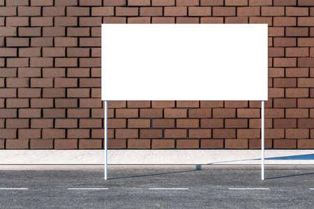3d rendering, advertising billboard on the side of road. Computer digital image. Stockfoto