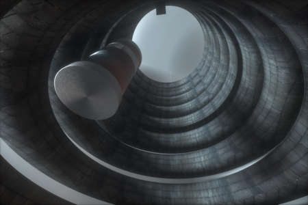 3D modeling of an abandoned cylindrical building