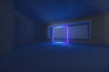 Empty rough room with light coming in from the window, 3d rendering. Computer digital background.