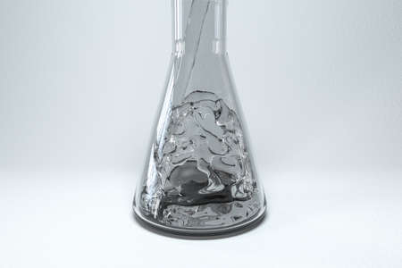 Liquid poured into a conical glass