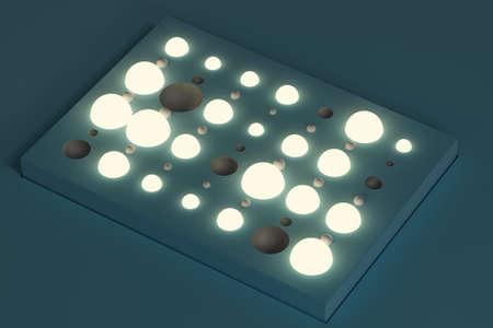 3d unique lighting fixture on a surface