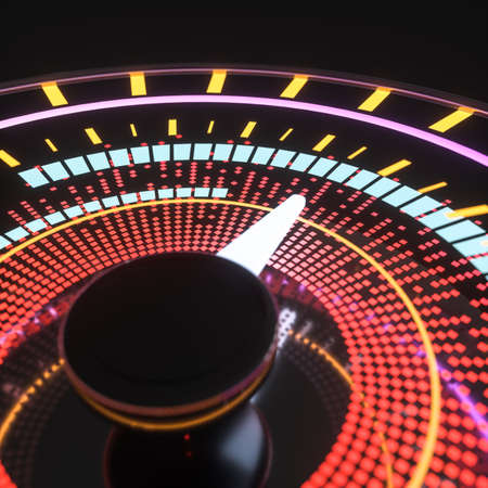 Digital drawing of dashboard with glowing lines, 3d rendering. Computer digital drawing. Stockfoto