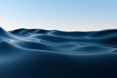 Clear blue ocean background, gradient water surface, 3d rendering. Computer digital drawing. Stock Photo