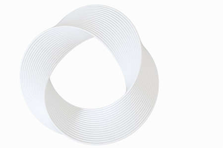 The virtual image of Mobius ring geometric figure, 3d rendering. Computer digital drawing.