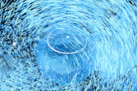High speed vortex particles, 3d rendering. Computer digital drawing. 免版税图像