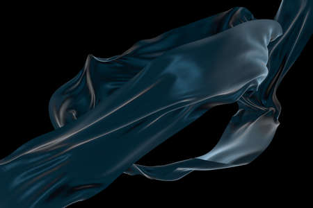 Flowing cloth, abstract color background, 3d rendering. Computer digital drawing.