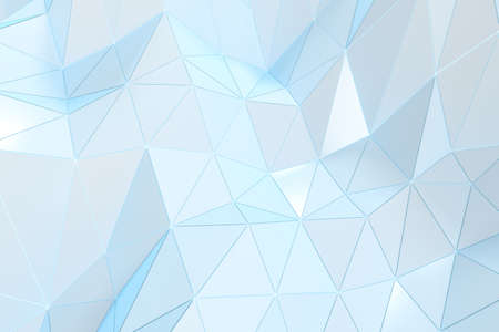 Triangle surface plane with structure lines, 3d rendering. Computer digital drawing.