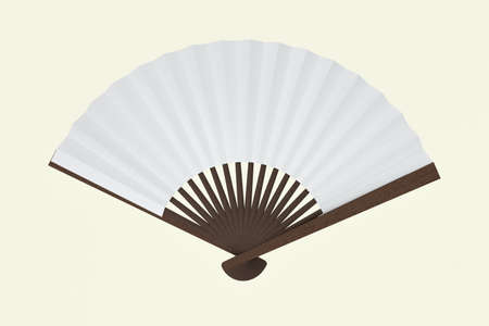 Fans with white background,chinese style decoration,3d,rendering.Computer digital drawing.