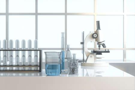 Experimental apparatus in laboratory, 3d rendering.