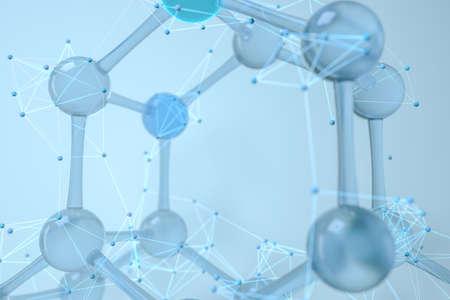 Molecules and biology, biological concept, 3d rendering. Computer digital drawing. 写真素材