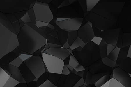 Crack hole on the dark metal wall, 3d rendering. Computer digital drawing.