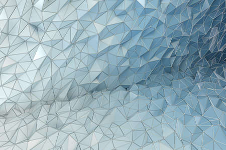 Triangle polygonal background, crystal construction, 3d rendering. Computer digital drawing. Stok Fotoğraf