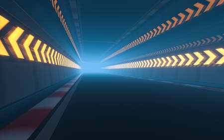 View of the infinity empty asphalt international race track, 3d rendering. Computer digital drawing.