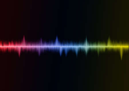 audio wave: Rainbow Sound wave