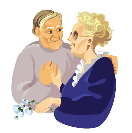elderly pair Stock Vector - 4911625