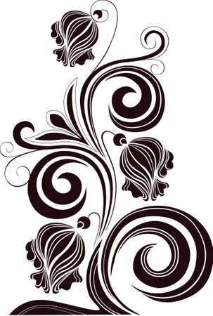 tatouage fleur: d�coration de fleurs sur un fond blanc