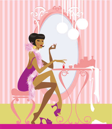 morning of the young lady Stock Vector - 5549976
