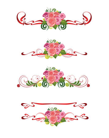 decorative element with of roses Vector