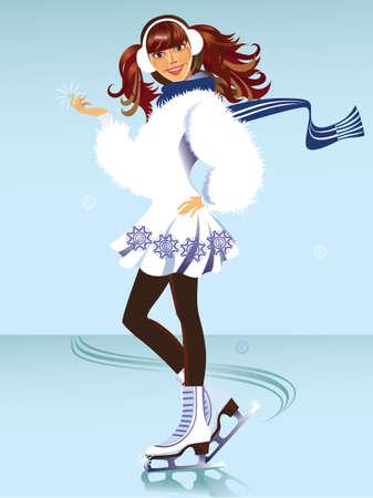 snowdrifts: allegra ragazza su pattini
