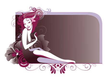 abstract portrait: beautiful girl Illustration