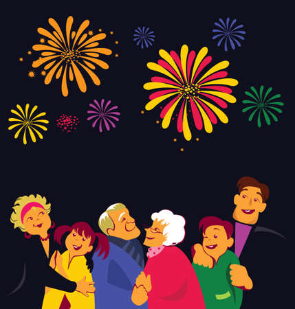 grandpa and grandma: family Illustration