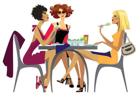 conversations: pranzo  Vettoriali