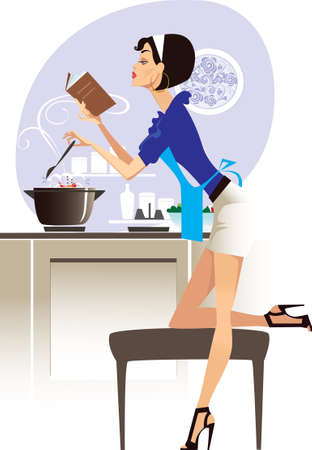 glamour chef Stock Vector - 7798595