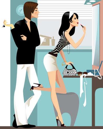 faire l amour: homme et femme dans le miroir