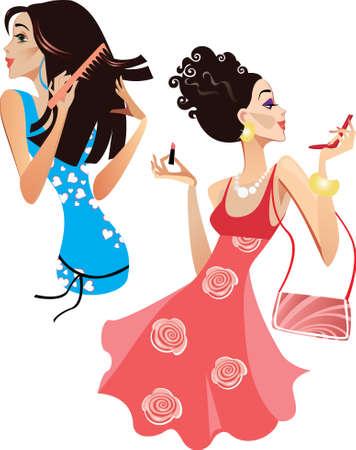 make up: filles intelligentes Illustration