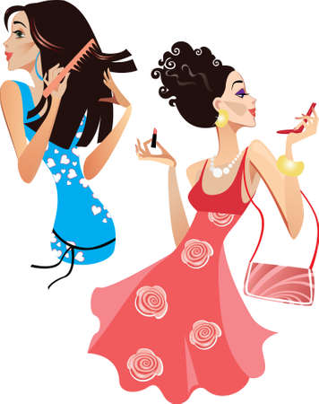 make up brushes: girls smarten up