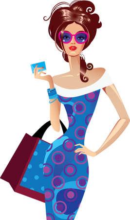 pretty girl: woman with bag