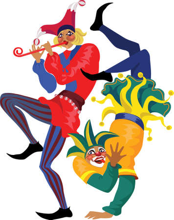 comedy: two jester Illustration
