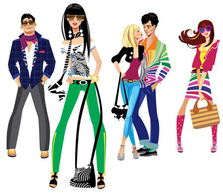 trendy girl: young people
