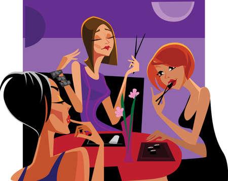 foodies: ladies foodies Illustration
