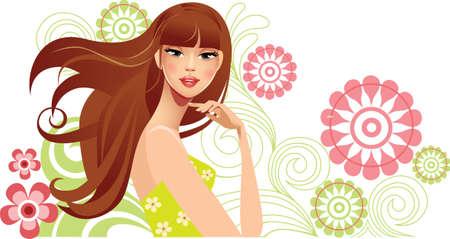spring girl Stock Vector - 11918003