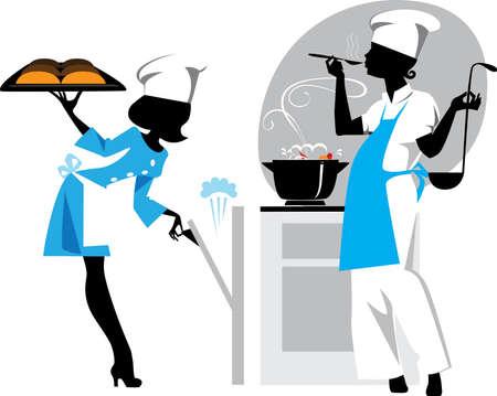 chef clipart: cooks Illustration