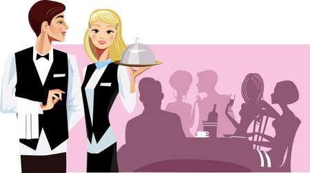 serviteurs: serveurs Illustration