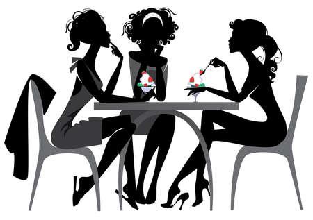 dibujos animados de mujeres: goloso