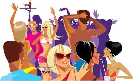week end: bailando en una fiesta