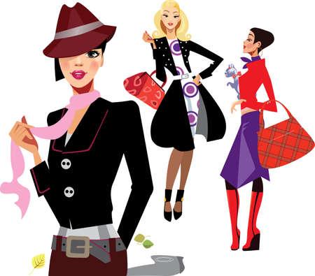 trendy girl: portrait fashion women