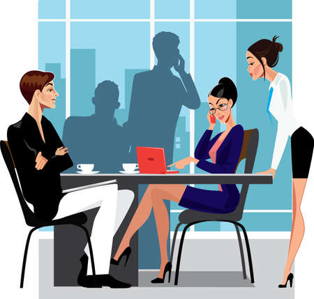 conversa: reuni�n de negocios