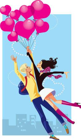 balloon woman: valentine s day