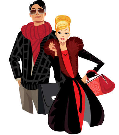 fashion men and woman Stock Vector - 17467341