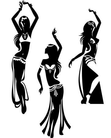 belly dance Illustration