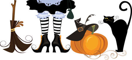 legs stockings: attributes halloween