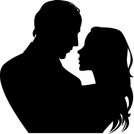 paramour: silhouette of woman and man in profile