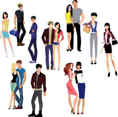 ludzie: ludzie Ilustracja