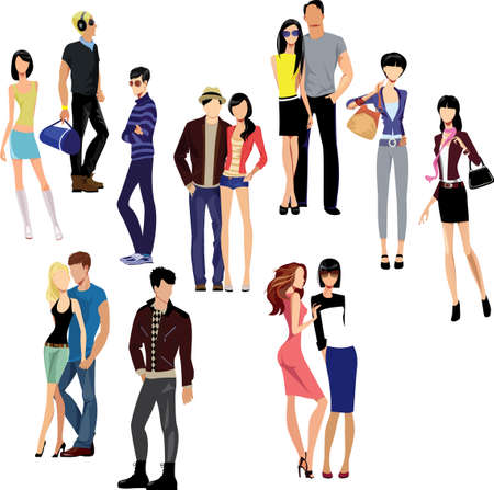 fashion vector: people