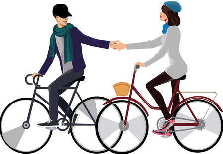 girl and guy on the bicycle
